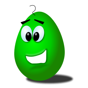 Chrisdesign green comic egg
